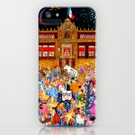 Mexico's Independence Day El Grito by Juan Manuel Rocha Kinkin iPhone Case
