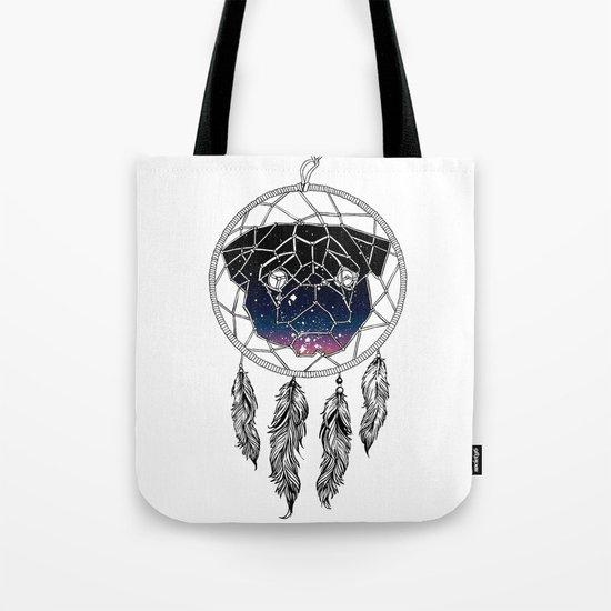 Dreamcather Pug Tote Bag