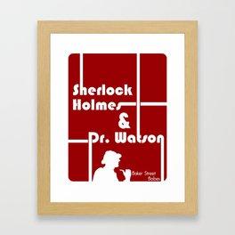 Baker Street Babes: Holmes and Watson Framed Art Print