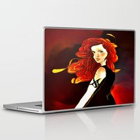 mortal instruments Laptop & iPad Skins featuring Clary Fray from The Mortal Instruments by Cassandra Clare by Amitra Art