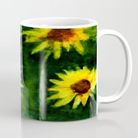 daisies Mugs featuring daisies by agnes Trachet