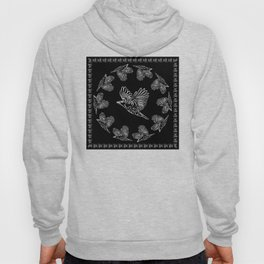 World crows. Crows in different framework, round, square. Hoody