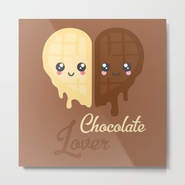 Chocolate Heart Metal Print