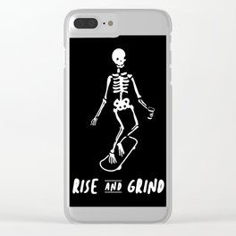 Rise & Grind Clear iPhone Case