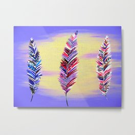 Feathers Metal Print