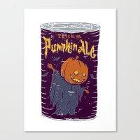 ale giorgini Canvas Prints featuring Pumpkin Ale by Moto