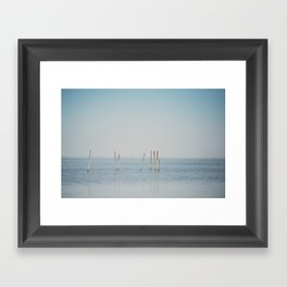 the Étang de Vaccarès ... Framed Art Print
