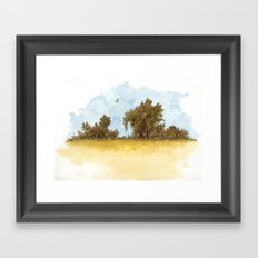 Dry Fields of Clovis Framed Art Print