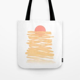 Let the Sunshine rise #lineart Tote Bag