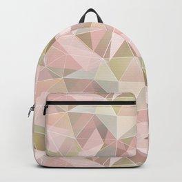 Broken glass in light pink tones. Backpack