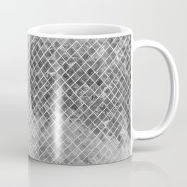 Abstract silver glitter modern geometric elegant pattern Coffee Mug