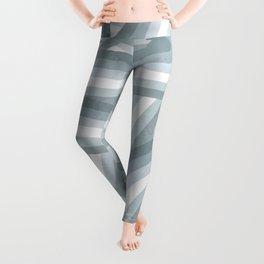 Beachy Blue Stripes Pattern Leggings