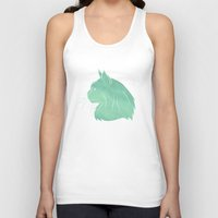 maine Tank Tops featuring Maine Coon by Jonathan Hall