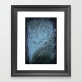 Peacock Abstract Framed Art Print