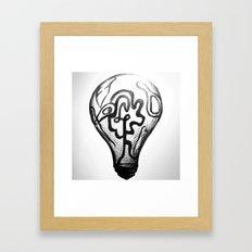Light bulb Framed Art Print