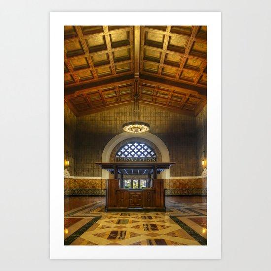 Union Station Information Art Print
