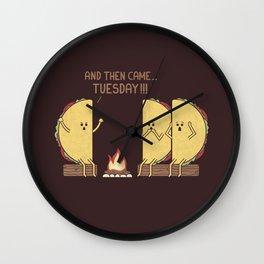 Tuesday Wall Clock