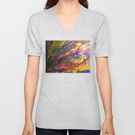 Sunset in the enchanted forest Unisex V-Neck