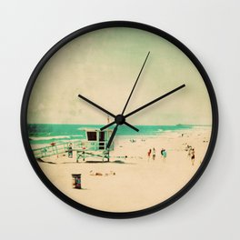 Nostalgia. Hermosa Beach photograph Wall Clock