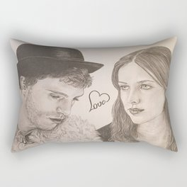 """Love"" JAMIE DORNAN - AMELIA WARNER Rectangular Pillow"