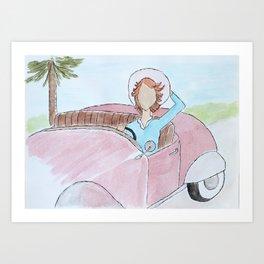 Vintage Car Ride Art Print