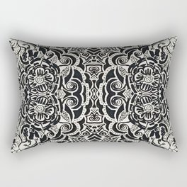 Black and White can be so Colorful Rectangular Pillow