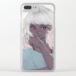 powder snow Clear iPhone Case