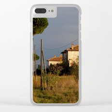 Sunny countryside in Italy Clear iPhone Case