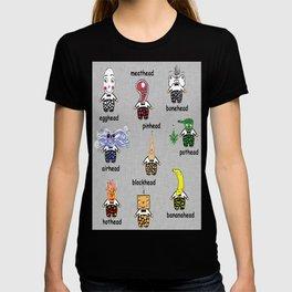Weird and Wacky Head Types T-shirt