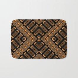 Abstract 355 a bronze tone geometric Bath Mat