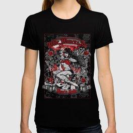 Wine Women & Sin Tattoo Girl T-shirt