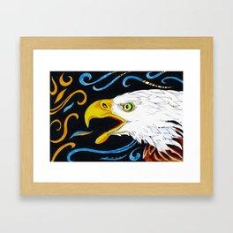 Eagle Marker Ink Drawing Framed Art Print