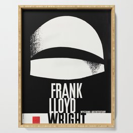 Frank Lloyd Wright - Vintage Polish Poster - Guggenheim Serving Tray
