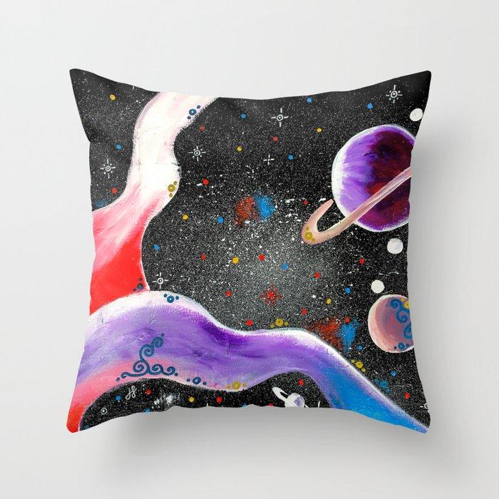 """""""Planetary"""" Throw Pillow"""