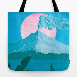 Costa Rica, Volcano Arenal Vintage Travel Poster Tote Bag