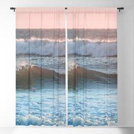 Beach Adventure Summer Waves at Sunset Blackout Curtain