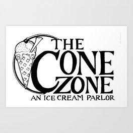 Cone Zone Ice Cream Parlor Art Print