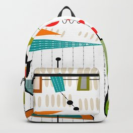 Mid-Century Modern Abstract Atomic Art Backpack