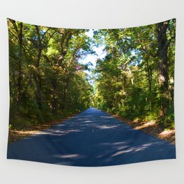 The road to Point Pelee National Park, Southern Ontario, Canada Wall Tapestry