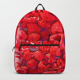 Fresh Red Raspberries - For Fruit Lovers Backpack