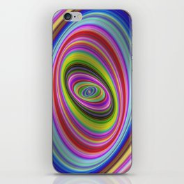 Colorful hypnosis iPhone Skin
