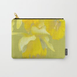 Sign of Spring - Yellow Narcissus on Spring Green Background #decor #society6 #buyart Carry-All Pouch