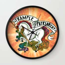 Trample the Patriarchy Wall Clock