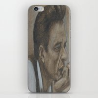 johnny cash iPhone & iPod Skins featuring Johnny Cash by Tex Bigrancher