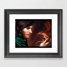 The Baby Dragon Framed Art Print