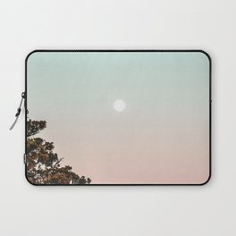 Rainbow Color Sunset // Incredible Clear Sky Photograph Through the Forest Trees Laptop Sleeve