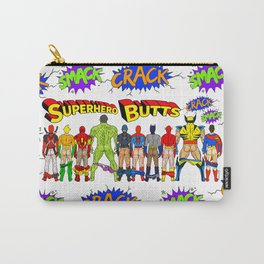 Superhero Butts Crack Smack Carry-All Pouch