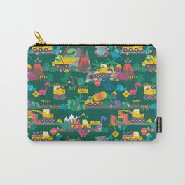 Dinosaur Construction Crew Pattern Carry-All Pouch
