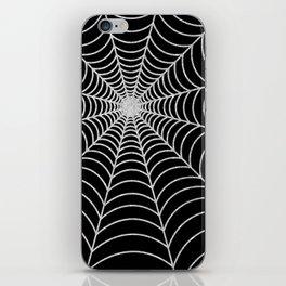 Spiderweb   Silver Glitter iPhone Skin