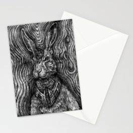 Hare Guardian Stationery Cards